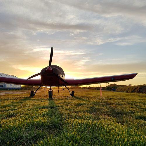 Sport Sunset Sky Aitplane Cloud - Sky Protection Grass First Eyeem Photo