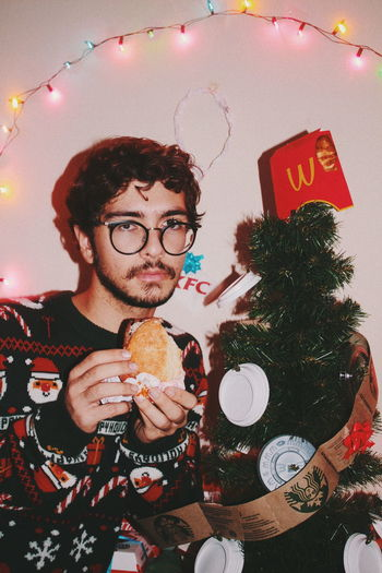 Merry capital Christmas. Joy to the world where fast food corporations have bigger gross domestic product than some countries. MerryChristmas Happy New Year 2019 Christmas Christmas Decoration Christmas Lights christmas tree Capitalism Art Portrait Performance Looking At Camera Close-up