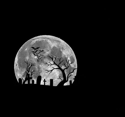 Happy Halloween Spooky Full Moon Be Afraid