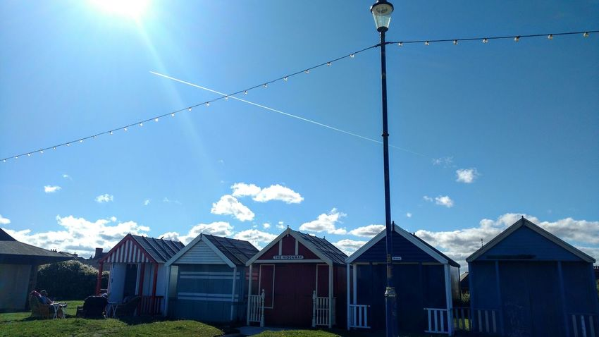 Beach Summer Relaxing Sun Blue Sky Beach Huts