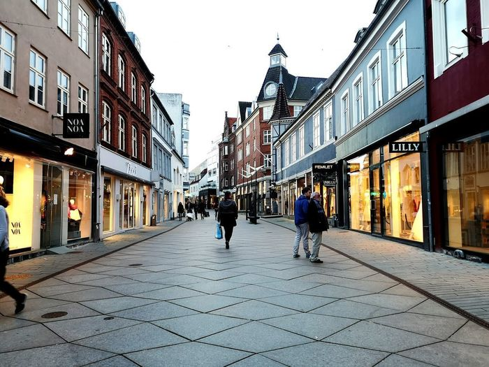 Vejle in Denmark Vejle City Store City Life Street City Street Pedestrian Men Full Length Architecture Building Exterior