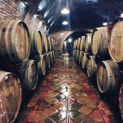 Full frame shot of wine bottles
