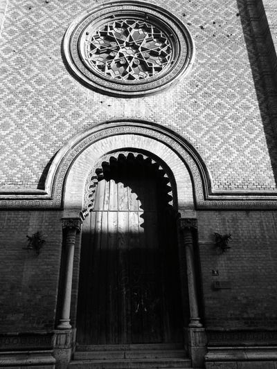 Arch Built Structure No People Architecture Indoors  Day Black & White Door Circular Window
