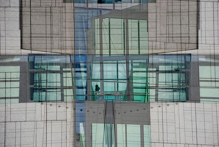 Modern art in pastel Bluw Geometry Glass Glass - Material Gray Green Modern Pastel Pastel Colors Pastel Power Window