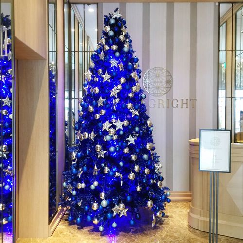 Blue Christmas Decoration Decorative Art Christmas Celebration No People Flower Indoors  Day Christmas Ornament