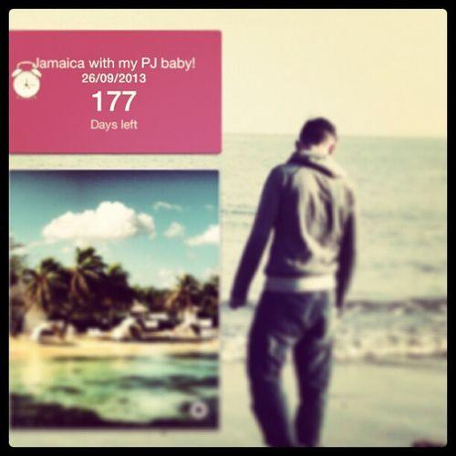 177 days left Jamaica Holiday vacation Boyfriend Love Excited Needit Beach RunawayBay Girl LongTime  Toolong