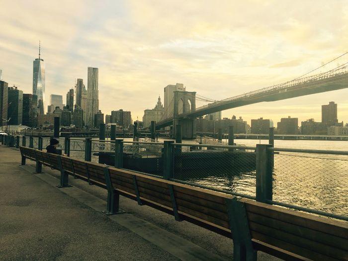 New York Brooklyn Bridge / New York New York City BOOKLYN Cityscapes