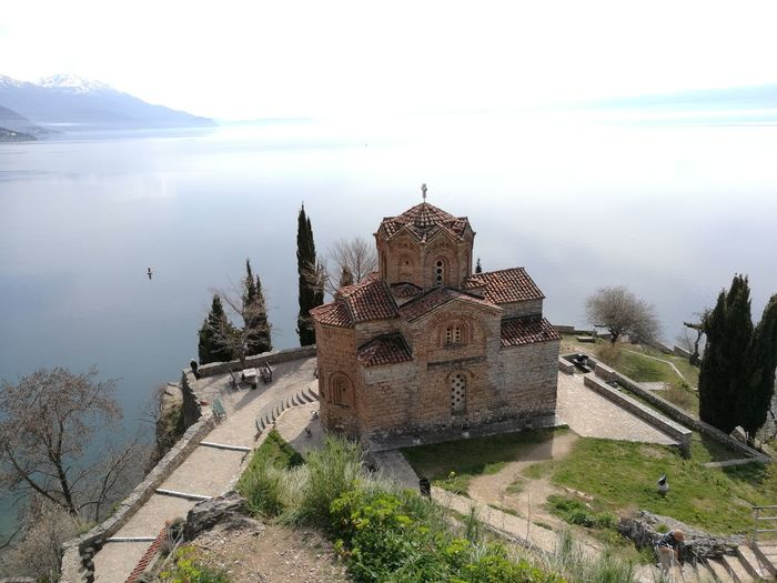 Ohrid, Kaneo 2017 Reflection Lake Religion Travel Destinations Spirituality Tranquility Day Sky No People Nature Outdoors Water Architecture