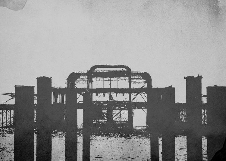 Architecture Built Structure Pier Burn Derelict & Abandoned Brighton And Hove West Pier, Brighton