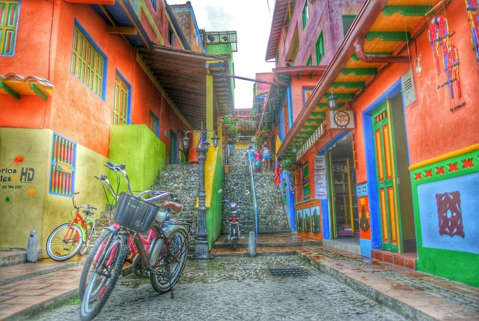 Travelling Street Colors Bicycle HDR Town Buildings Stairs The Street Photographer - 2017 EyeEm Awards