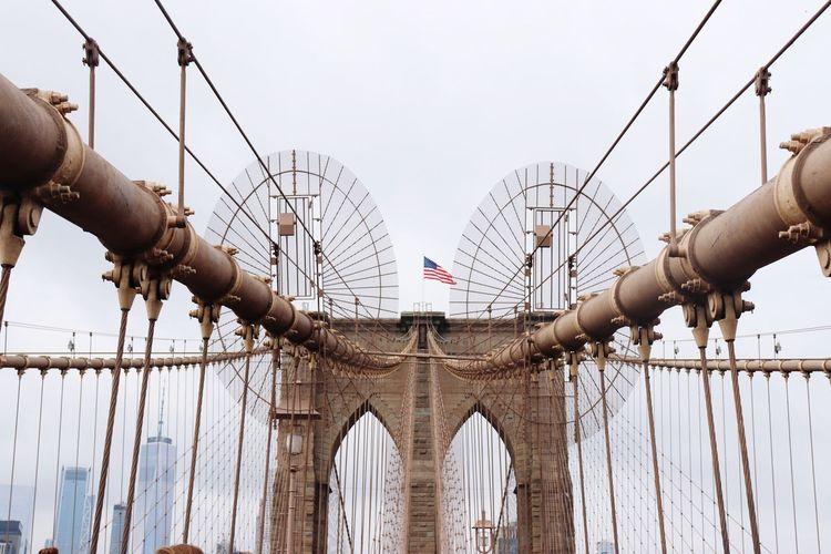 View Of Brooklyn Bridge Against Sky