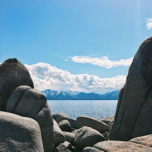 The Tahoe Blue Beauty In Nature Water Nature Scenics Sea Tranquil Scene Mountain Day Outdoors Sky Beach Vacations No People Lake Tahoe Lake TCPM