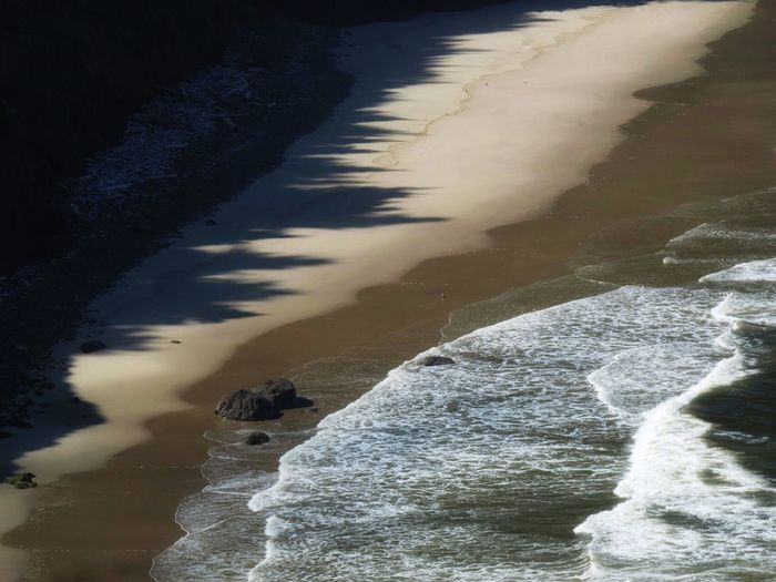 Water Sea Tranquil Scene Nature Tranquility Beauty In Nature Beach No People Outdoors Scenics Day Sand Wave Ocean Pacific Ocean Minimalist Diagonals Florence Oregon Oregon Coast