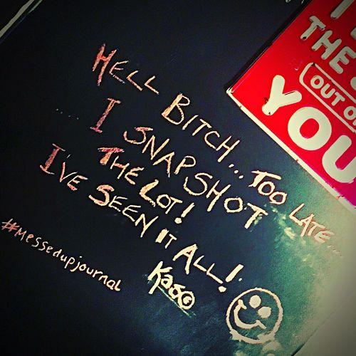 Messedupjournal Blackboard  Blackboardwalls Snapshot Chalk