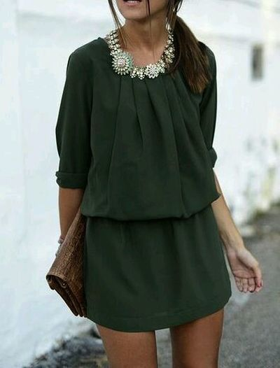 Forest Green from sincerelyjules.com Style And Fashion Fashionista Mystyle Lovely Dress
