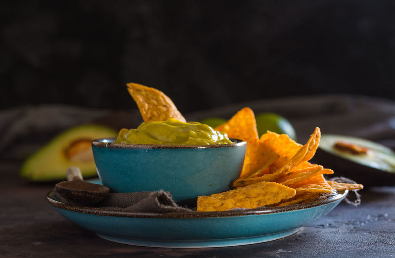 Bowl Close-up Food Food And Drink Freshness Indoors  Nacho Chip No People Ready-to-eat Snack Still Life Table