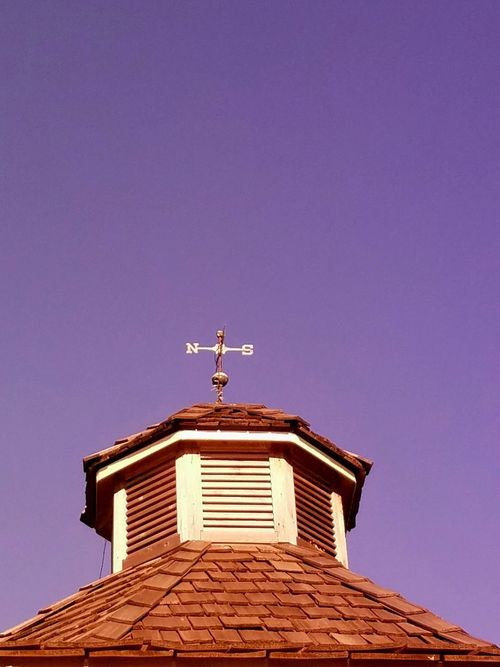 Low Angle View Weather Vane Roof No People Clear Sky Day Sky Architecture Outdoors Building Exterior Politics And Government