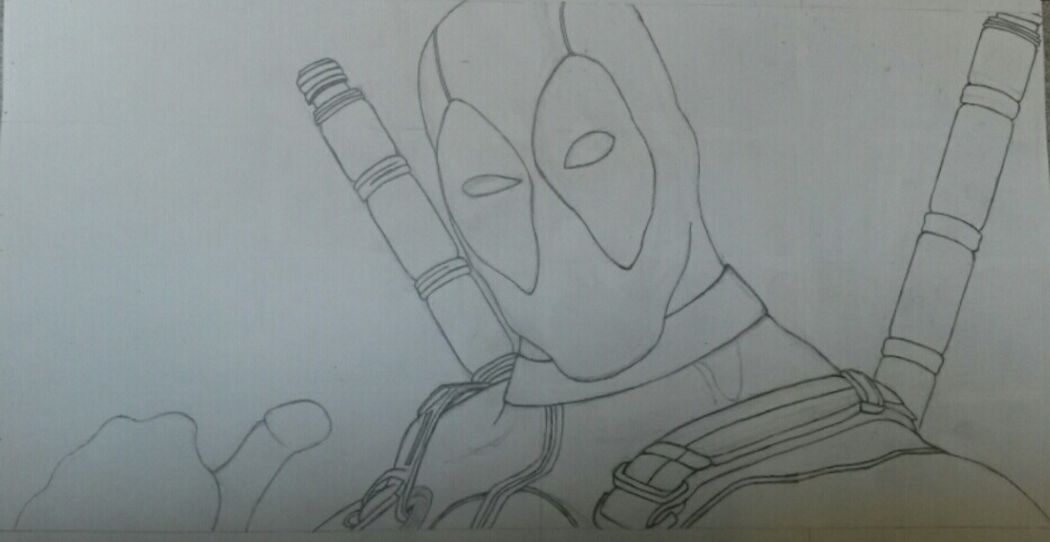 Working on a new deadpool drawing Art Drawing Sketch Not Finished Yet Deadpool Follow4follow