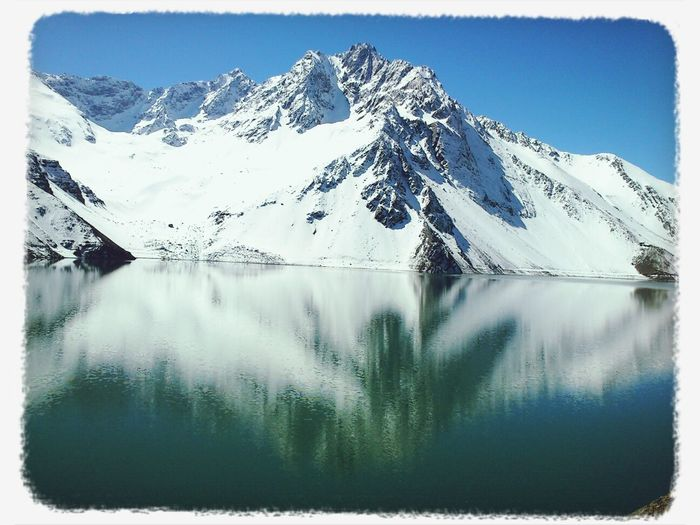Embalse El Yeso Water Reflections Montains    Montains And Water