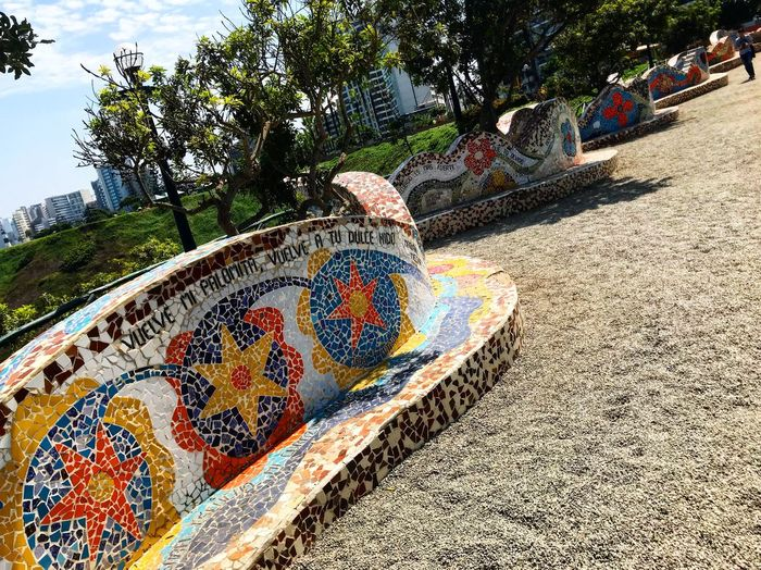 Public Park Love Tree Plant Nature Art And Craft Day Creativity Sunlight Mosaic Land Representation Human Representation High Angle View Pattern Multi Colored No People Outdoors Park Growth Shadow Close-up