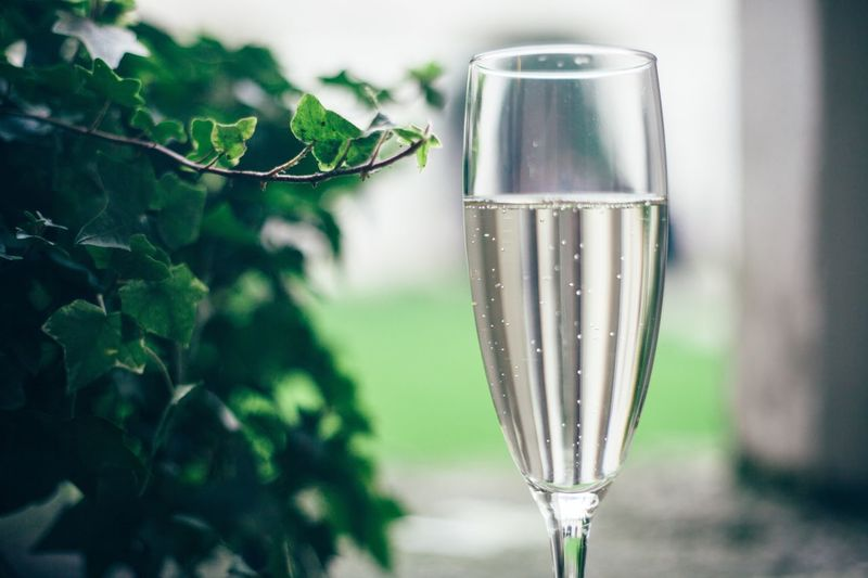 Close-Up Of Glass Of Champagne
