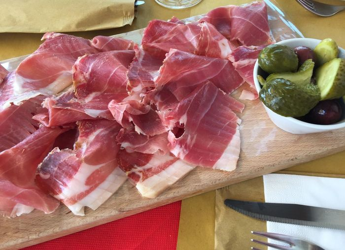 delicious food in italy Jamon Serrano Serrano Ham Food And Drink Food Freshness Still Life Close-up No People High Angle View Wellbeing Delicious Food DELICIOUS FOOD ♡ Delicious Delicious ♡ Ready-to-eat Ready To Eat Healthy Eating Healthy Food Indoors  Table