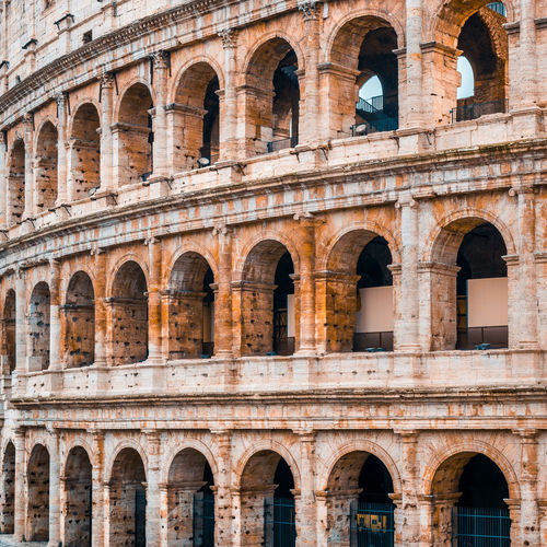 Low angle view of a building coloseum