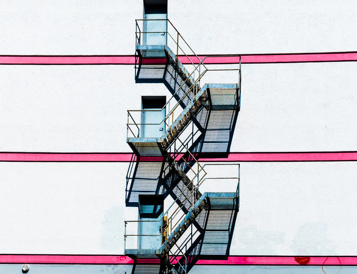 Low Angle View Of Fire Escape Against Building