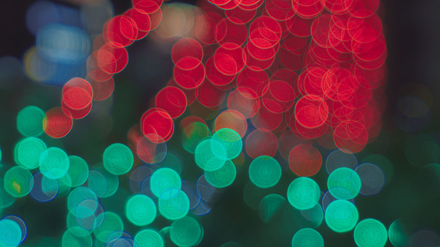 lights Copy Space Green Color Backgrounds Boken Lights Celebration Christmas Christmas Decoration Close-up Defocused Focus On Foreground Full Frame Illuminated Multi Colored Night No People Outdoors Red Red Color
