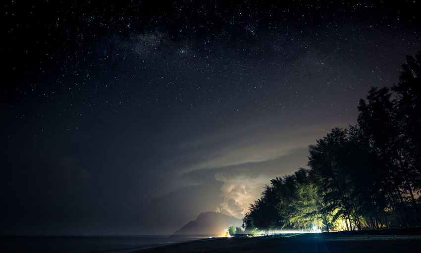 Pantai Air Papan, Mersing, Johor, Malaysia Cloud - Sky Dark Hour Galaxy Landscape Lightning Long Exposure Milky Way Night Nightshot Rain Raining Seascape Thick Cloud Thick Clouds Tree Fresh On Market 2017
