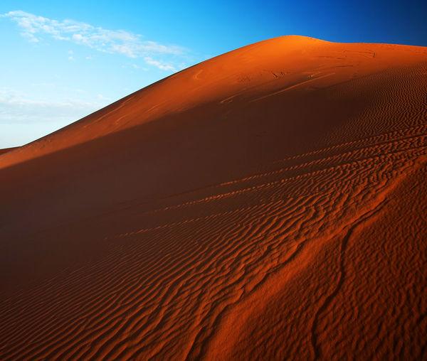 Scenic View Of Sand Dunes At Erg Chebbi Desert