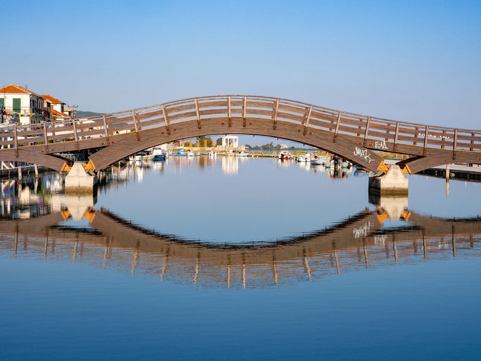Outdoors Water Nature Sea Greece Ionian Sea Ionian Islands Lefkada Island Greek Islands Bridge - Man Made Structure Bridge Travel Destinations Waterfront Architecture Reflection Blue No People Built Structure Arch