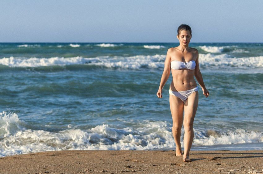 Beach Sea Summer Sand Vacations Wave One Person Outdoors People Full Length Motion Lifestyles Exercising Day Portrait Healthy Lifestyle Sport Leisure Activity Nature Only Women Greece Crete