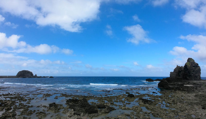 Taiwan Beach Beauty In Nature Blue Cloud - Sky Day Greenisland Horizon Over Water Nature No People Outdoors Rock - Object Rock Formation Scenics Sea Sky Tranquil Scene Tranquility Water