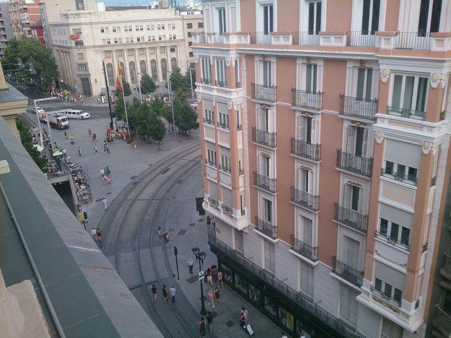 La Plaza De España y el Coso en Zaragoza