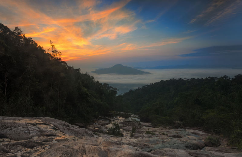 Sunrise view at