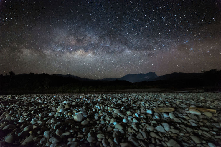 Nightscape scenery with starry and milky way. Mount Kinabalu as background. Milky Way Nightphotography Nightscape Landscape Mount Kinabalu Togudon Malangkap Borneo Aabah Malaysia Star Starry Beautiful Background Wallpaper Space And Astronomy Star Field Astrology Star Trail Astrology Sign Rocky Mountains Nebula Sagittarius