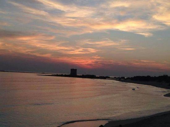 Sunset in Torre Lapillo beach ( Salento, Italy ) Sea Sunset Beach Nature