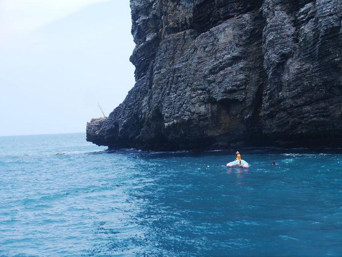 Andaman Andaman Sea Limestone Limestone Islands Limestone Wall Limestone Walls Rocky Sea Sea And Sky Thailand