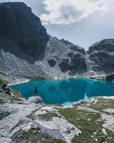 Switzerland Beauty In Nature Mountain Nature Scenics One Person Adventure Landscape Water Outdoors Tranquility Swiss Alps Pizol Hiking Roaming