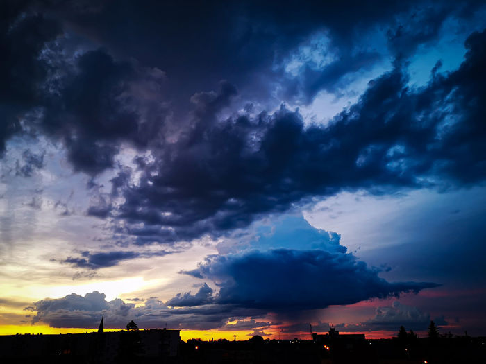 Sunset Mountain Storm Cloud Blue Tree Dramatic Sky Thunderstorm Sky Landscape Cloud - Sky The Great Outdoors - 2019 EyeEm Awards The Mobile Photographer - 2019 EyeEm Awards My Best Photo