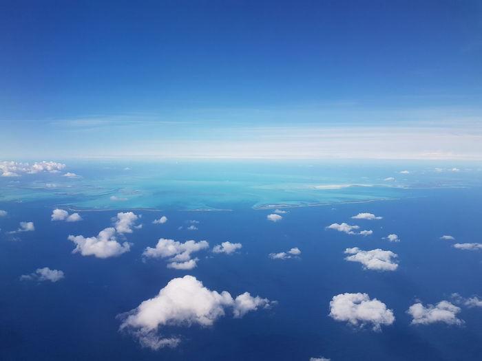 Blue Horizon Over Water Sky Sea