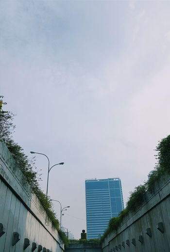 Sky Plants Building Underpass City Jakarta INDONESIA Clear Sky Cloud Cloud In Sky How Do We Build The World?