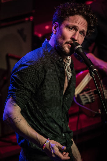 Singer  Vasateatern Adult Arts Culture And Entertainment Concert Concert Photography Focus On Foreground Illuminated Indoors  Lifestyles Moneybrother Music Musical Instrument Musician Night One Person People Performance Playing Portrait Real People Singer Songwriter Young Adult