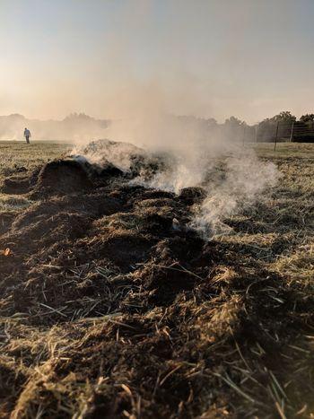 Burning Burning Fields Burning Grass Smoke Smoldering Haze EyeEm Selects Power In Nature Sunset Motion Sky