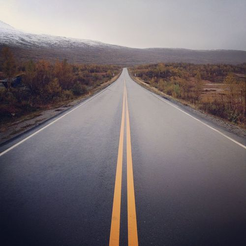 Highway in Iceland , Rainy Day