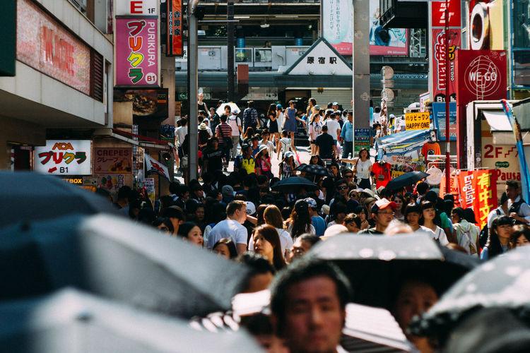 City Crowd Day Harajuku Japan Japanese  Large Group Of People Outdoors People TakeshitaDori Tokyo