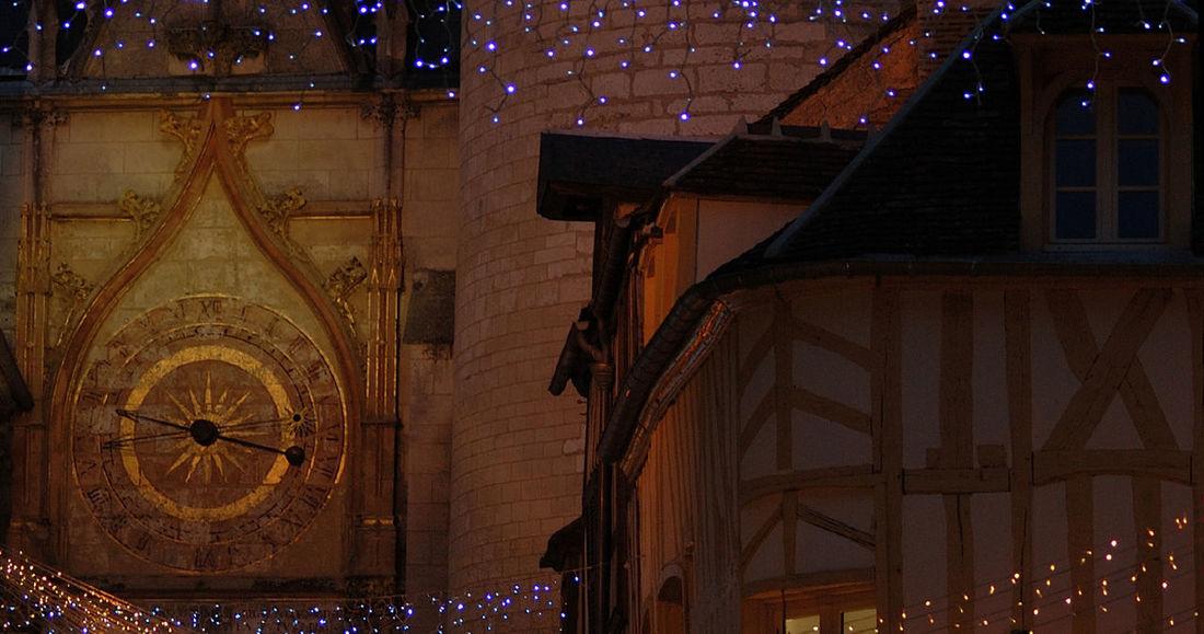 Architecture Auxerre Christmas Christmas Decorations Colombages Guirlandes Horloges Illuminated Lighting Equipment Nature Night Nightphotography Noel2015 Nuit