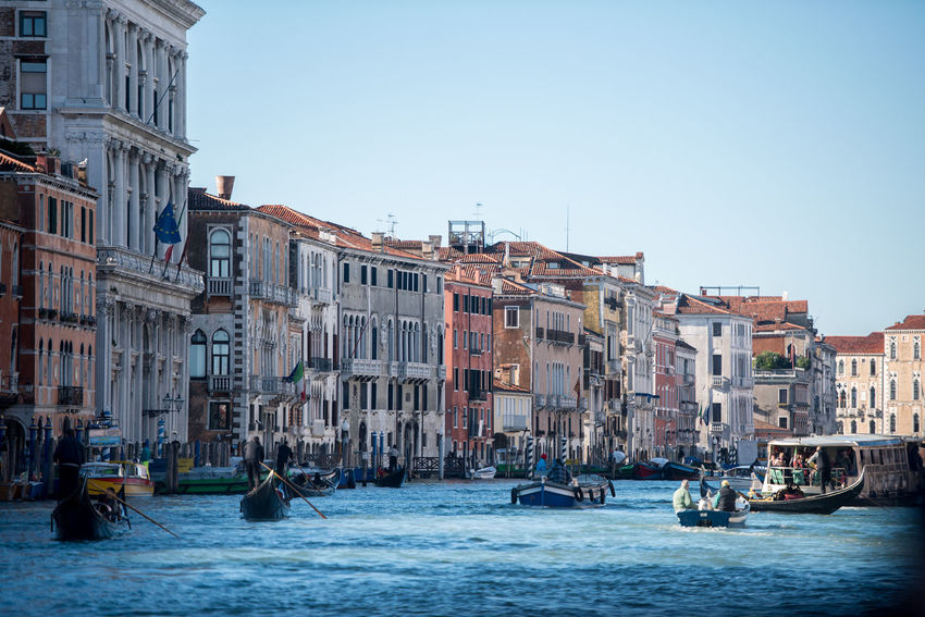 Venice, Italy Architecture Building Exterior Canal Clear Sky Day Gondola - Traditional Boat Large Group Of People Mode Of Transport Nautical Vessel Outdoors People Transportation Venice Water