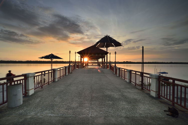 Leguna Park Jetty Malaysia Truly Asia Selangor Line Lead Sunrise River Blue Hour Water Sea Sunset Beach Summer Sand Silhouette Sky Horizon Over Water Architecture Fishing